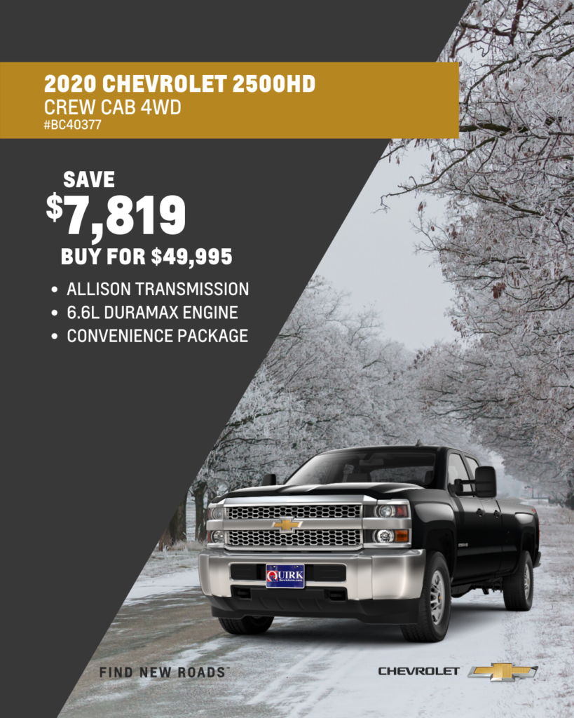 New 2020 Chevrolet Silverado 2500HD Work Truck 4WD