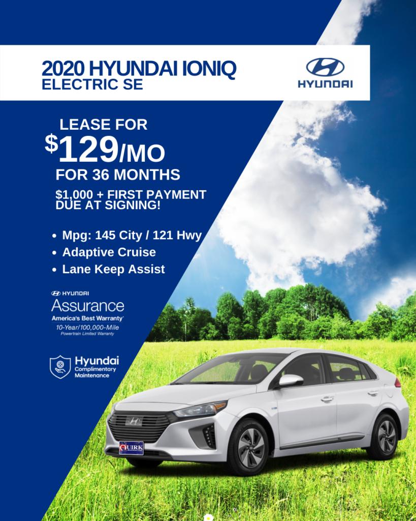 New 2020 Hyundai Ioniq Electric SE FWD Hatchback
