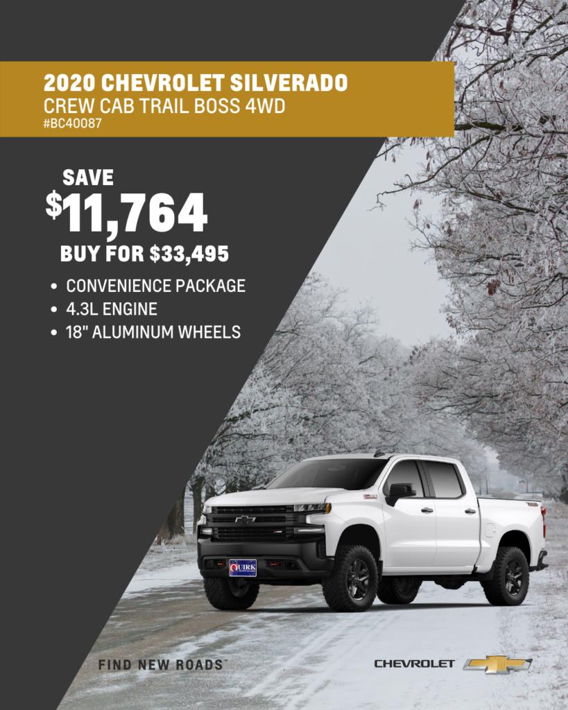 2020 Chevrolet Truck Silverado 1500 Custom Trail Boss Crew Cab 4WD