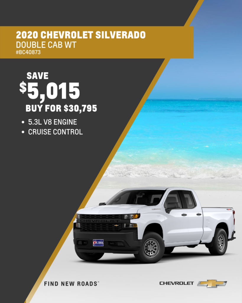 Save $5,815 and Buy 2020 Chevrolet Silverado 1500 Work Truck Double Cab 2WD For $29,995