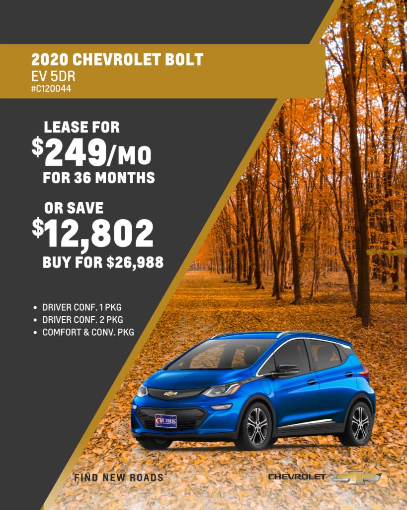 Save $12,802 and Buy 2020 Chevy Bolt LT EV Hatchback FWD For $26,988