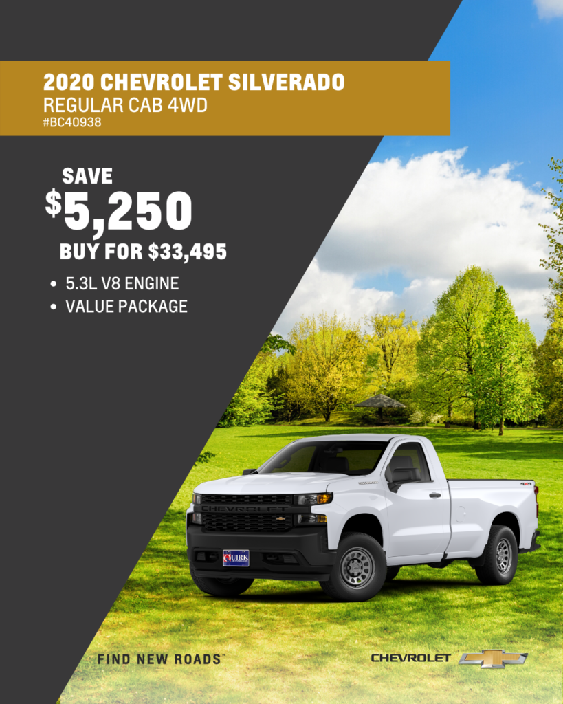 New 2020 Chevrolet Silverado 1500 Work Truck 4WD