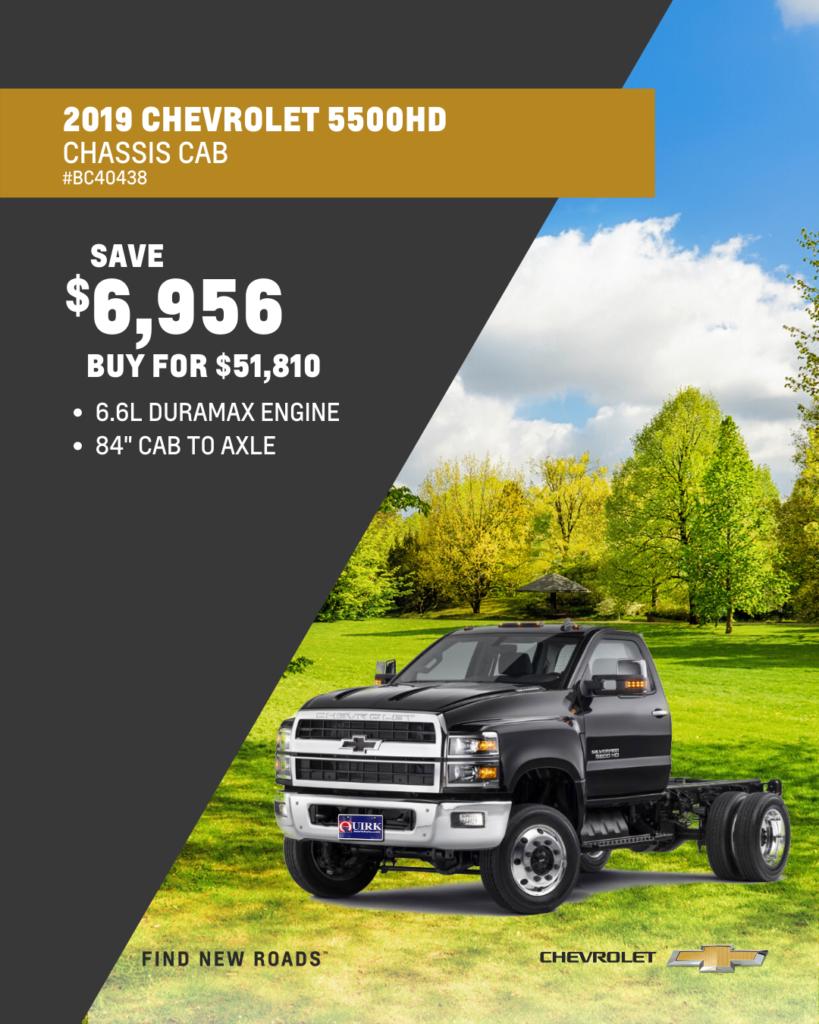 New 2019 Chevrolet Silverado 5500 MD Work Truck 4WD