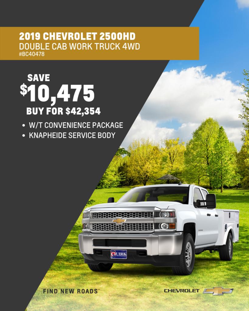 New 2019 Chevrolet Silverado 2500HD Work Truck 4WD