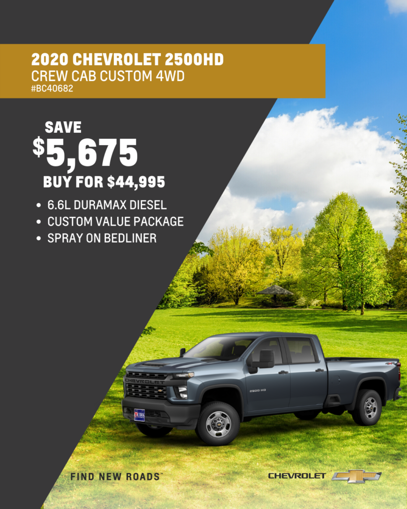 New 2020 Chevrolet Silverado 2500HD Custom 4WD