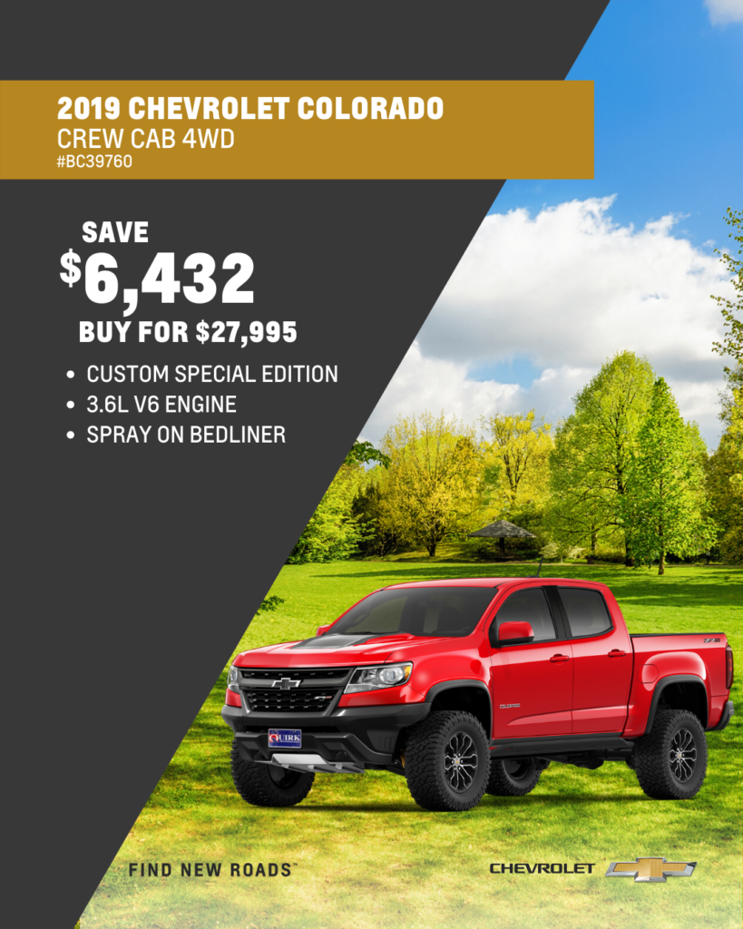 New 2019 Chevrolet Colorado 4WD Work Truck 4WD