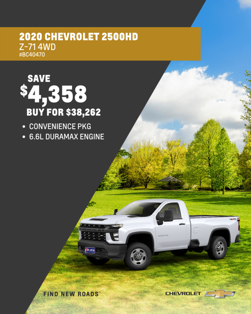 New 2020 Chevrolet Silverado 2500HD Work Truck RWD Crew Cab Pickup