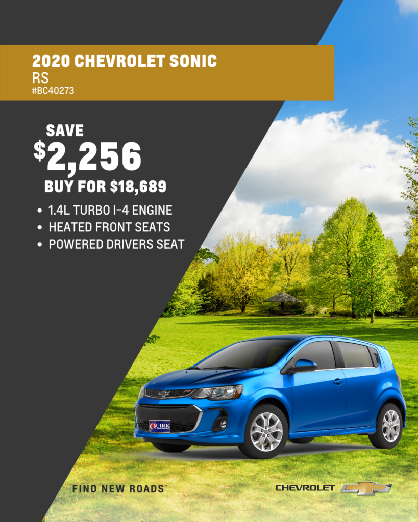 New 2020 Chevrolet Sonic RS