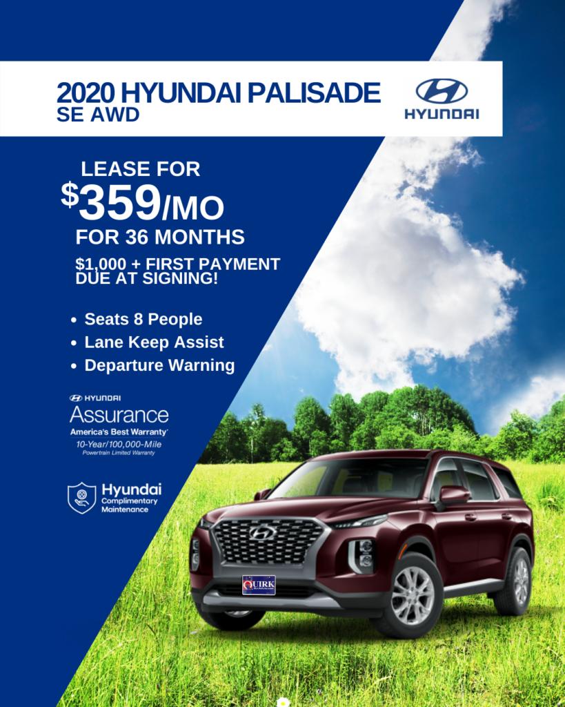 New 2020 Hyundai Palisade SE AWD