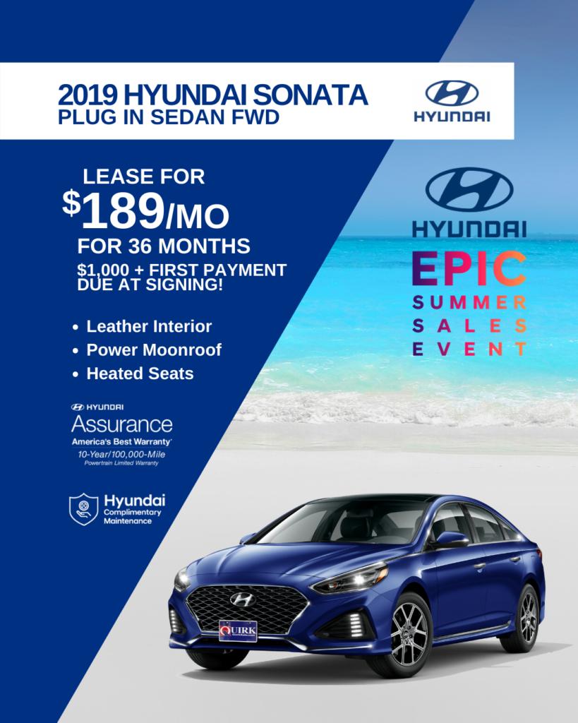 New 2019 Hyundai Sonata Plug-In Hybrid FWD 4dr Car