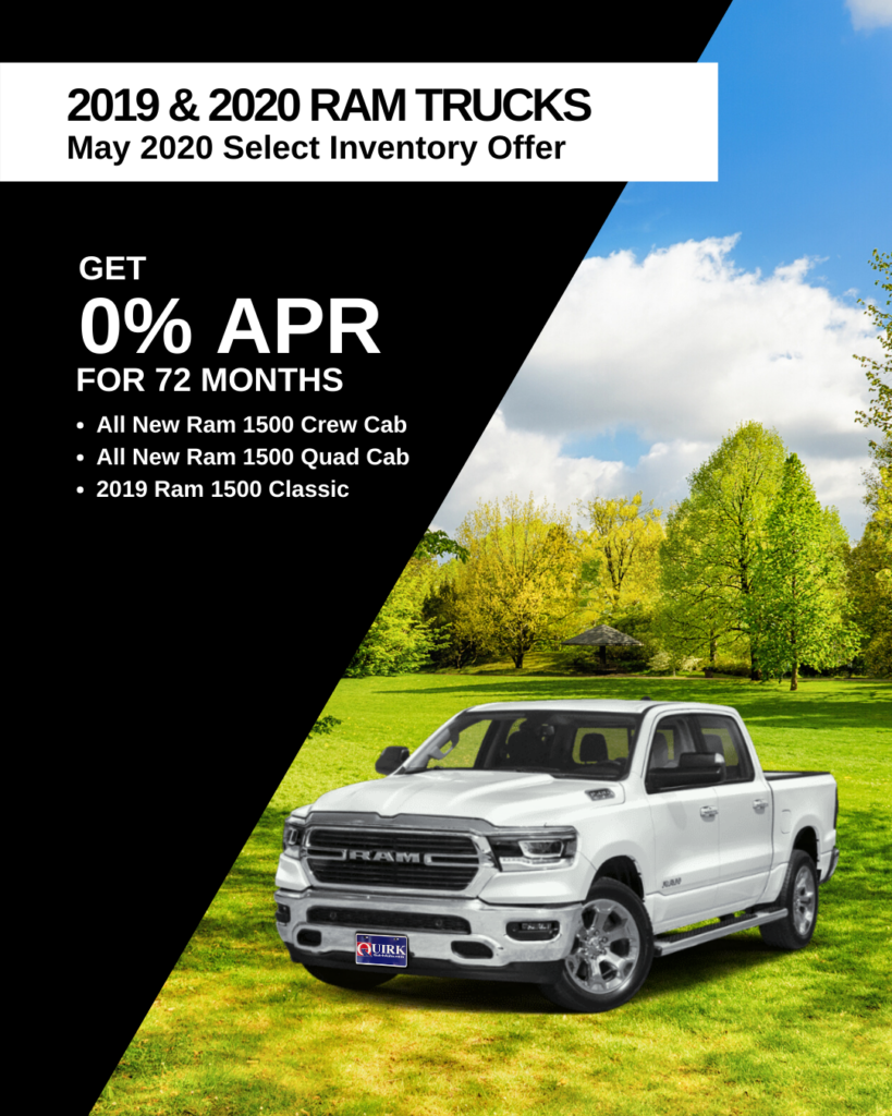 Get 0% For 72 Months On Select Ram Trucks