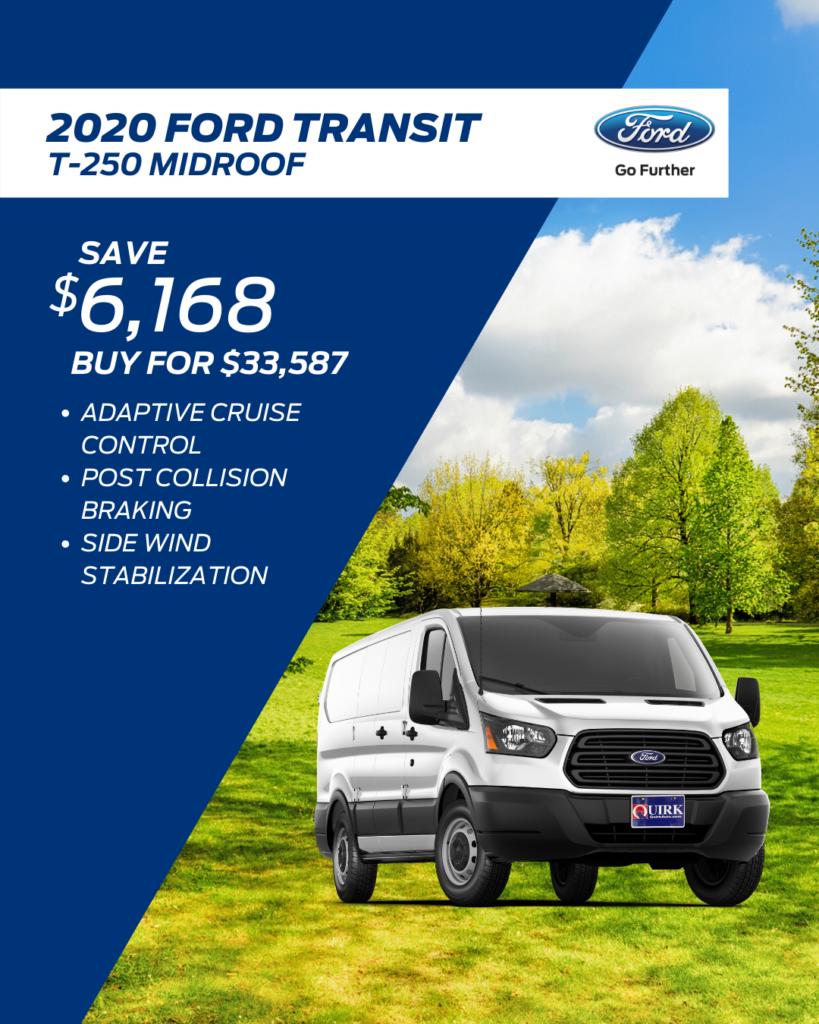 New 2020 Ford Transit Cargo Van RWD Mini-van, Cargo