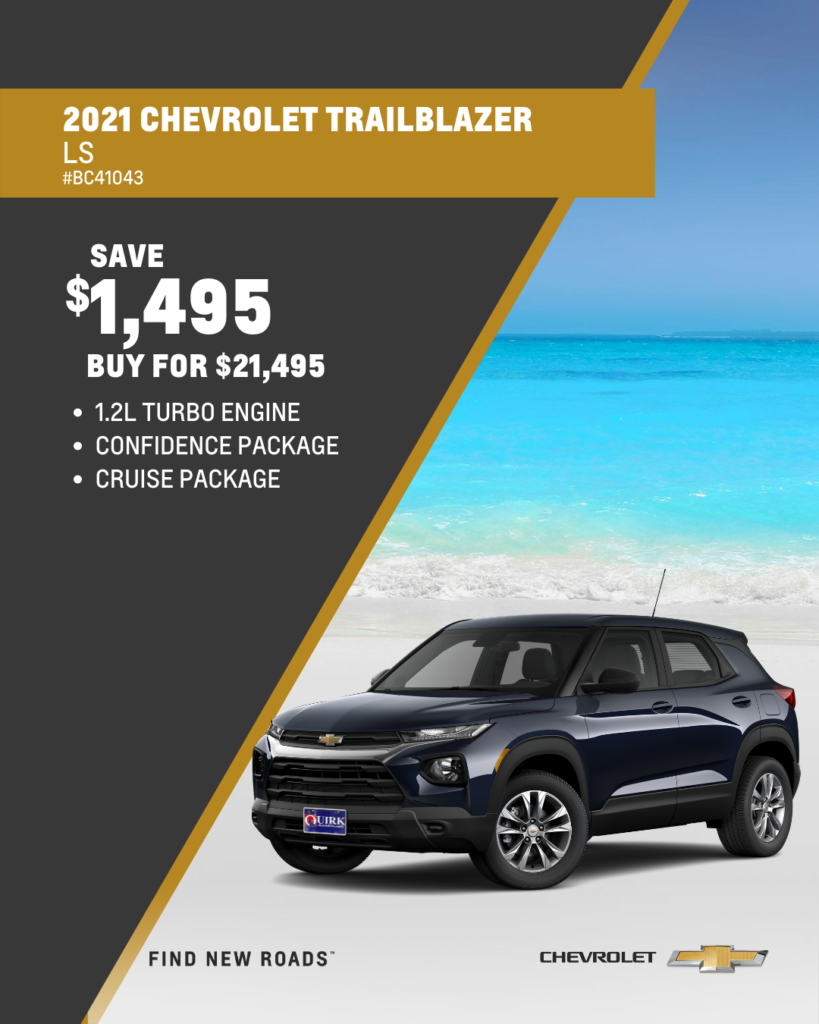 Save $1,495 and Buy 2021 Chevrolet Trailblazer LS FWD For $21,495