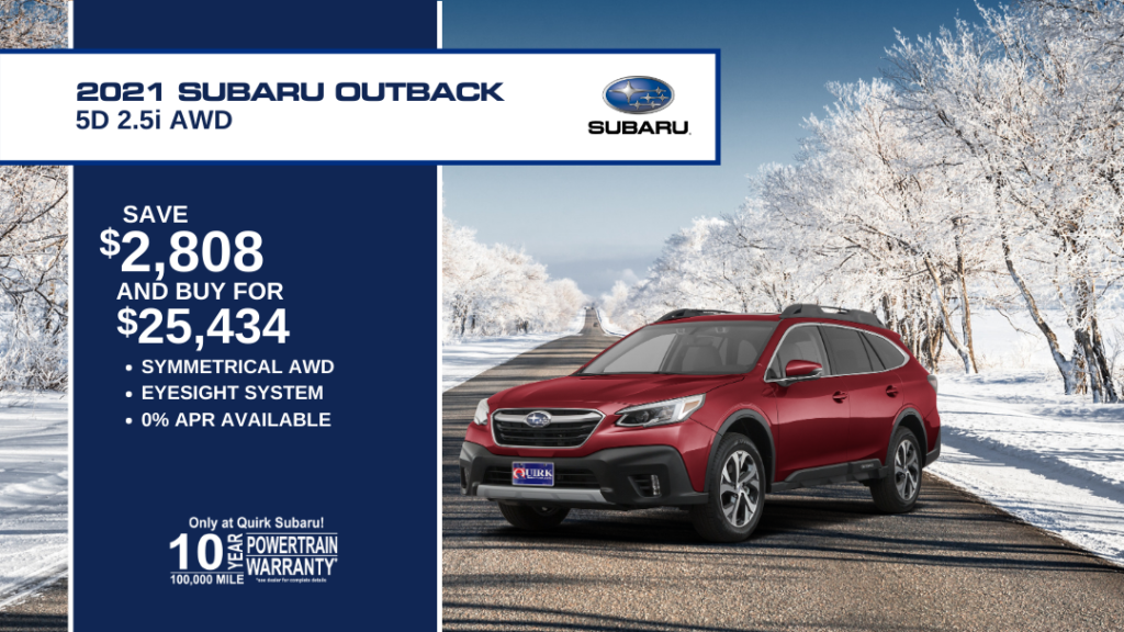 Save $2,808 and Buy 2021 Subaru Outback Wagon 5D 2.5Di Cvt For $25,434