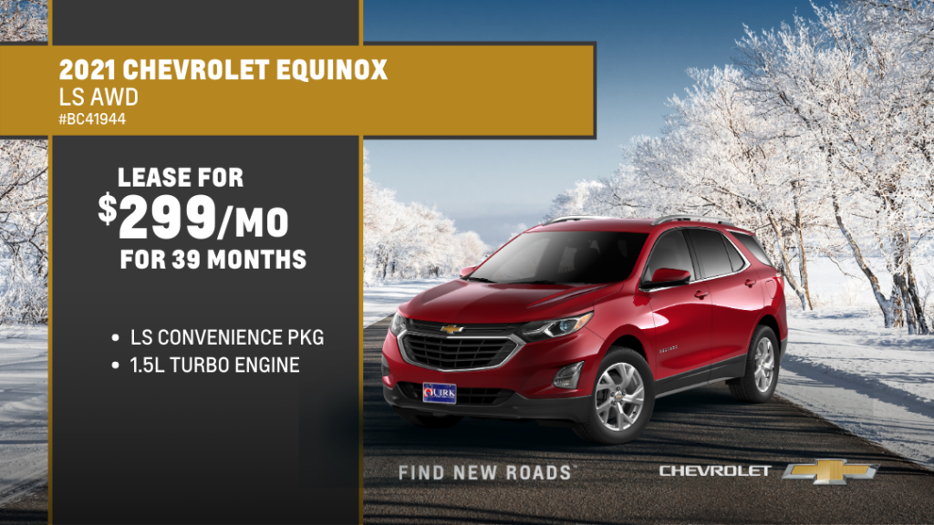 Lease 2021 Chevrolet Truck Equinox 4Dr SUV LS AWD For $299/month, $1,010 Due At Signing