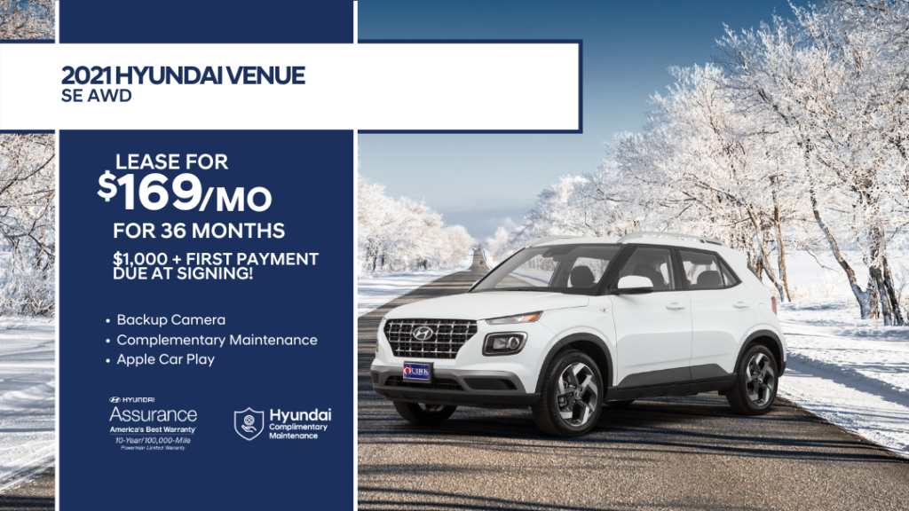 Lease 2021 Hyundai Venue SE FWD For $169/month, $1,169 Due At Signing