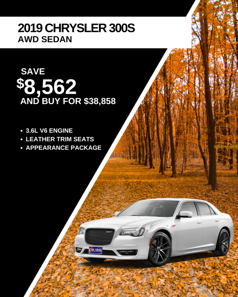 Save $8,562 and Buy 2019 Chrysler 300S AWD Sedan For $38,858