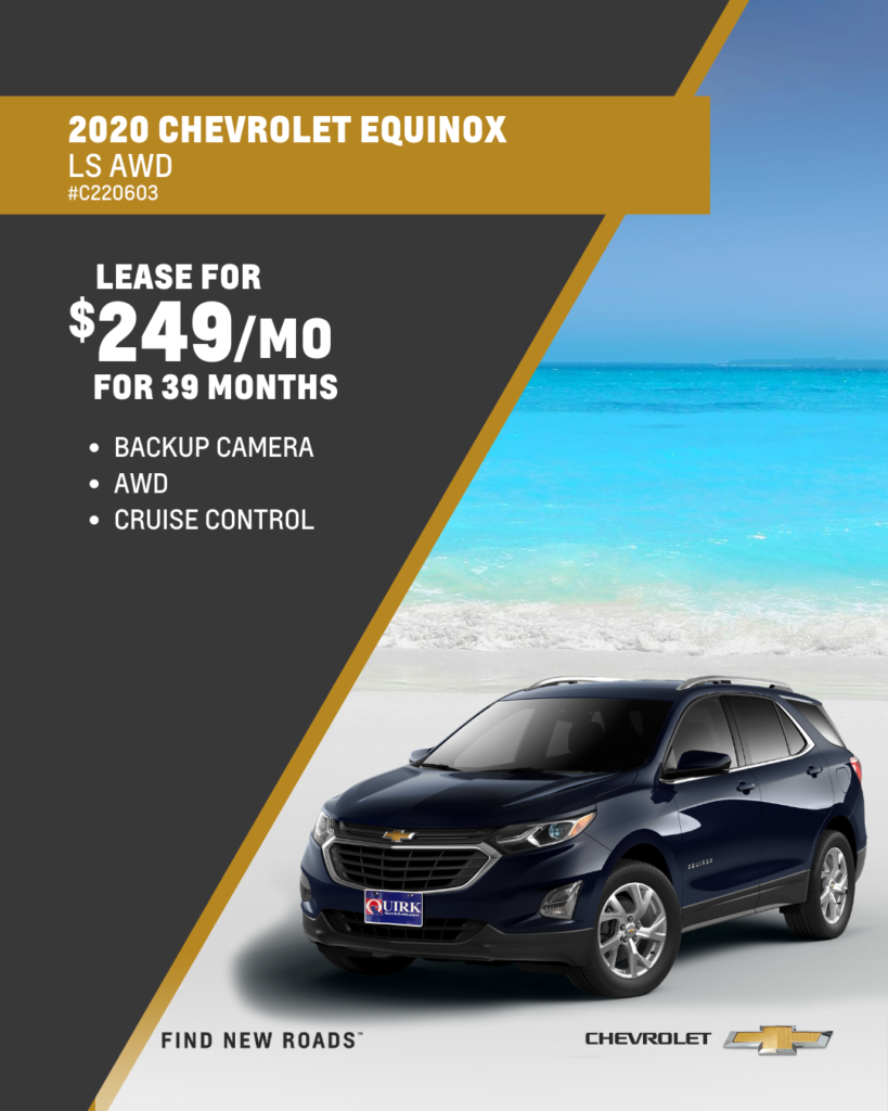 Lease 2020 Chevrolet Truck Equinox 4Dr Suv LS AWD For $249/month, $2,000 Due At Signing