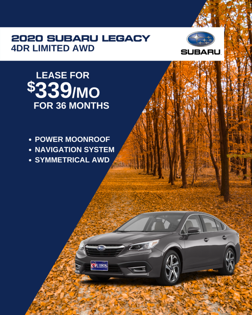 Lease 2020 Subaru Legacy 2.5DI Limited MR/Navi For $339/month, $1,339 Due At Signing