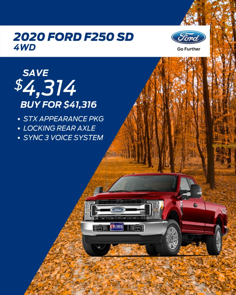 New 2020 Ford Super Duty F-250 SRW 4WD