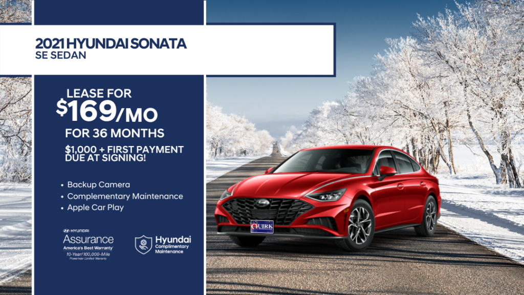 Lease 2021 Hyundai Sonata SE For $169/month, $1,169 Due At Signing