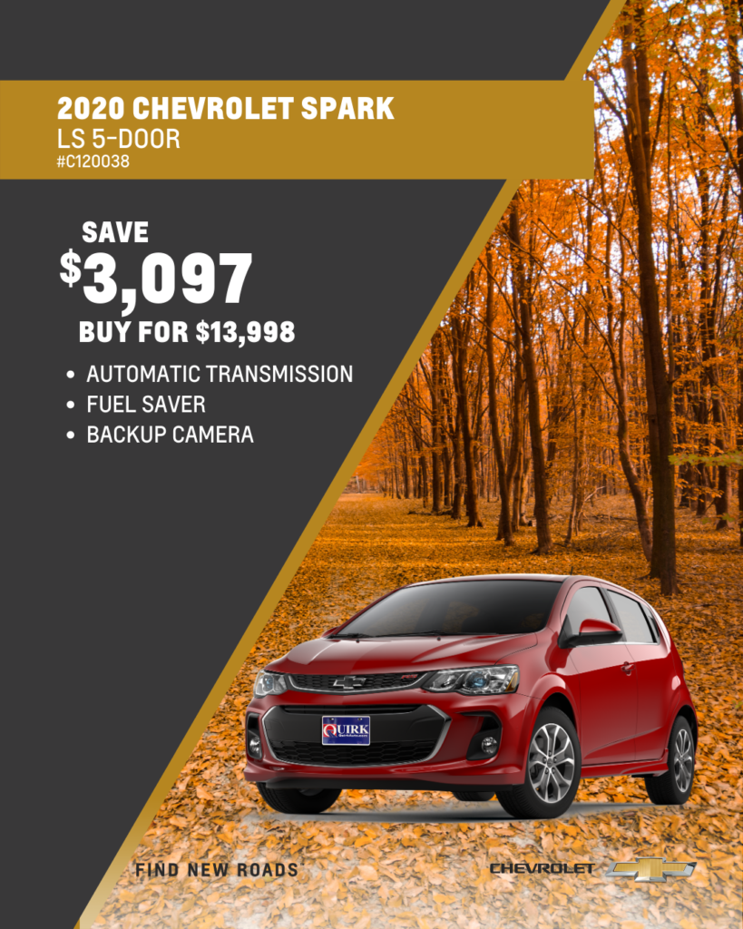 Save $3,097 and Buy 2020 Chevy Spark LT W/1LT Hatchback FWD For $13,998