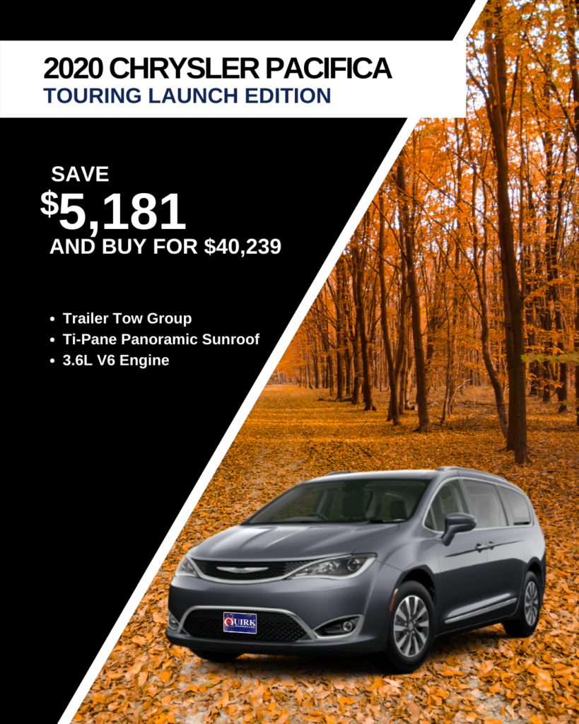 New 2020 Chrysler Pacifica Launch Edition With Navigation & AWD