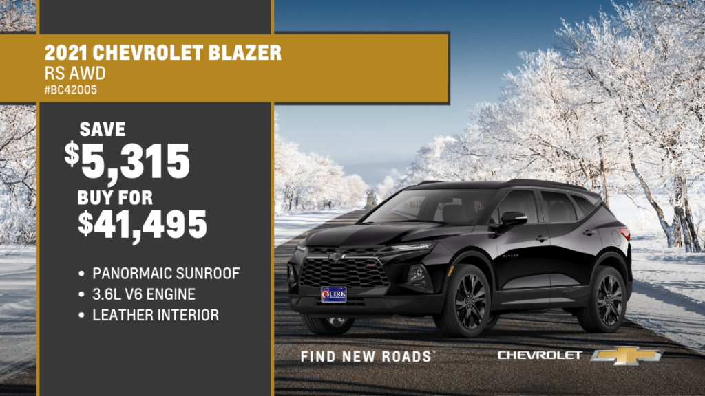 Save $5,315 and Buy 2021 Chevrolet Truck Blazer 4Dr SUT AWD RS W/1Rs For $41,495