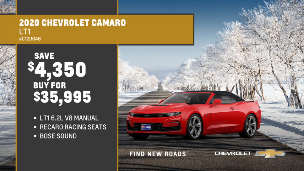 Save $4,350 and Buy 2020 Chevrolet Camaro 2DR Coupe LT1 For $35,995
