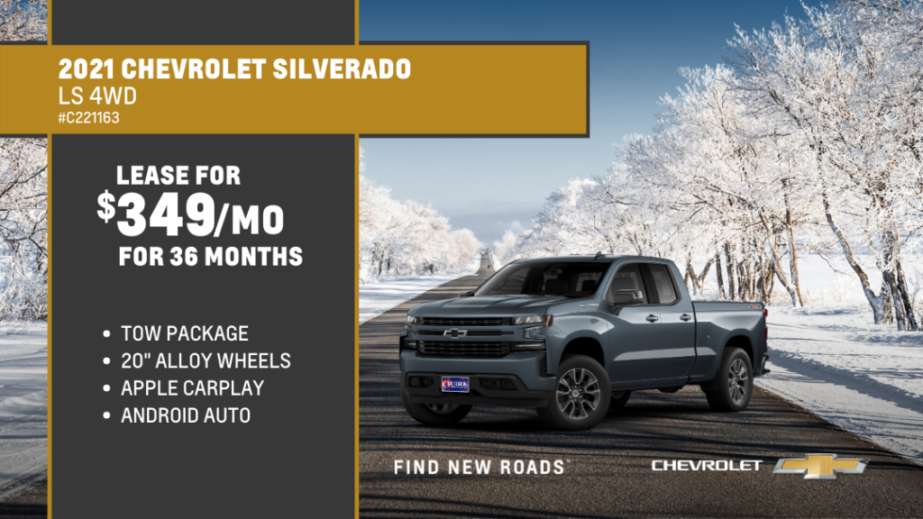 Lease 2021 SILVERADO 1500 CUSTOM For $349/month, $1,349 Due At Signing