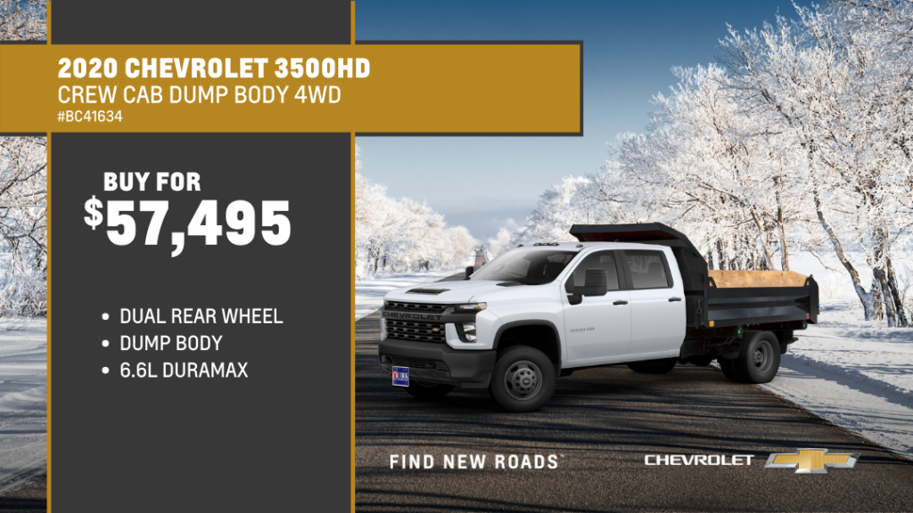 Save -$1,602 and Buy 2020 Chevrolet Truck Silverado 3500 Cc 4WD Crew Dual For $57,495