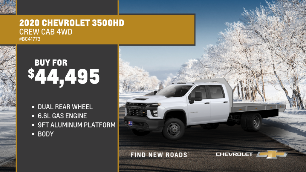 Save $1,793 and Buy 2020 Chevrolet Truck Silverado 3500 Cc 4WD Crew Dual For $44,495