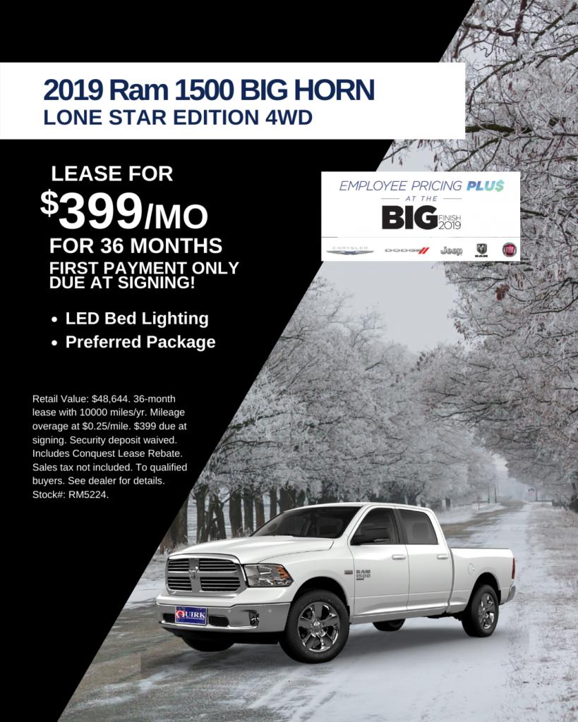 New 2019 Ram 1500 Big Horn/Lone Star 4WD