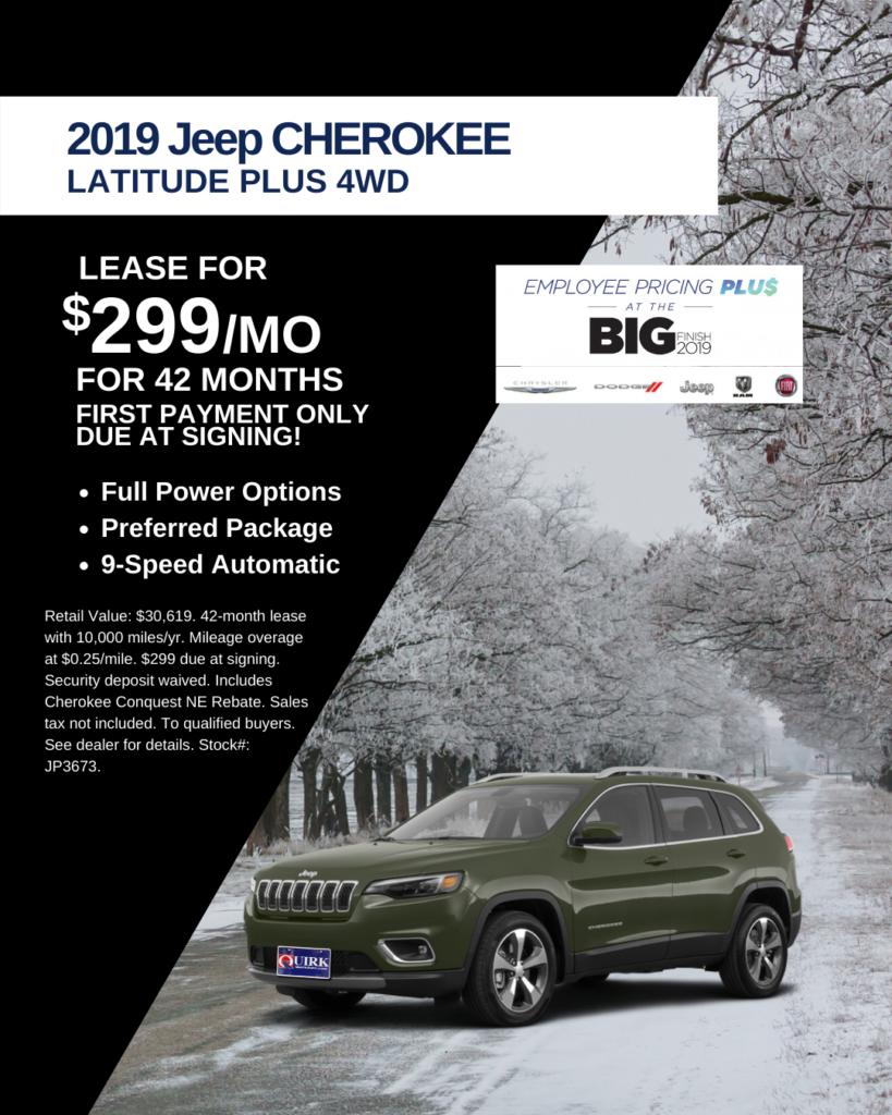 New 2019 Jeep Cherokee Latitude Plus 4WD