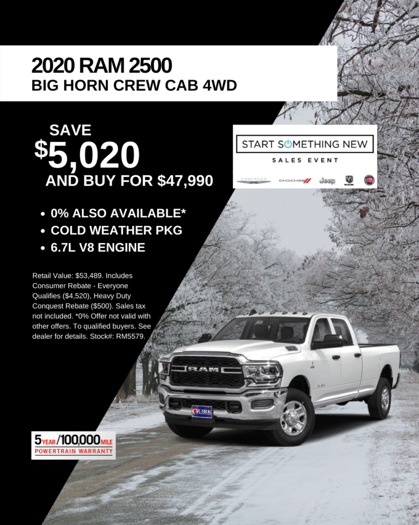 New 2020 Ram 2500 Big Horn 4WD