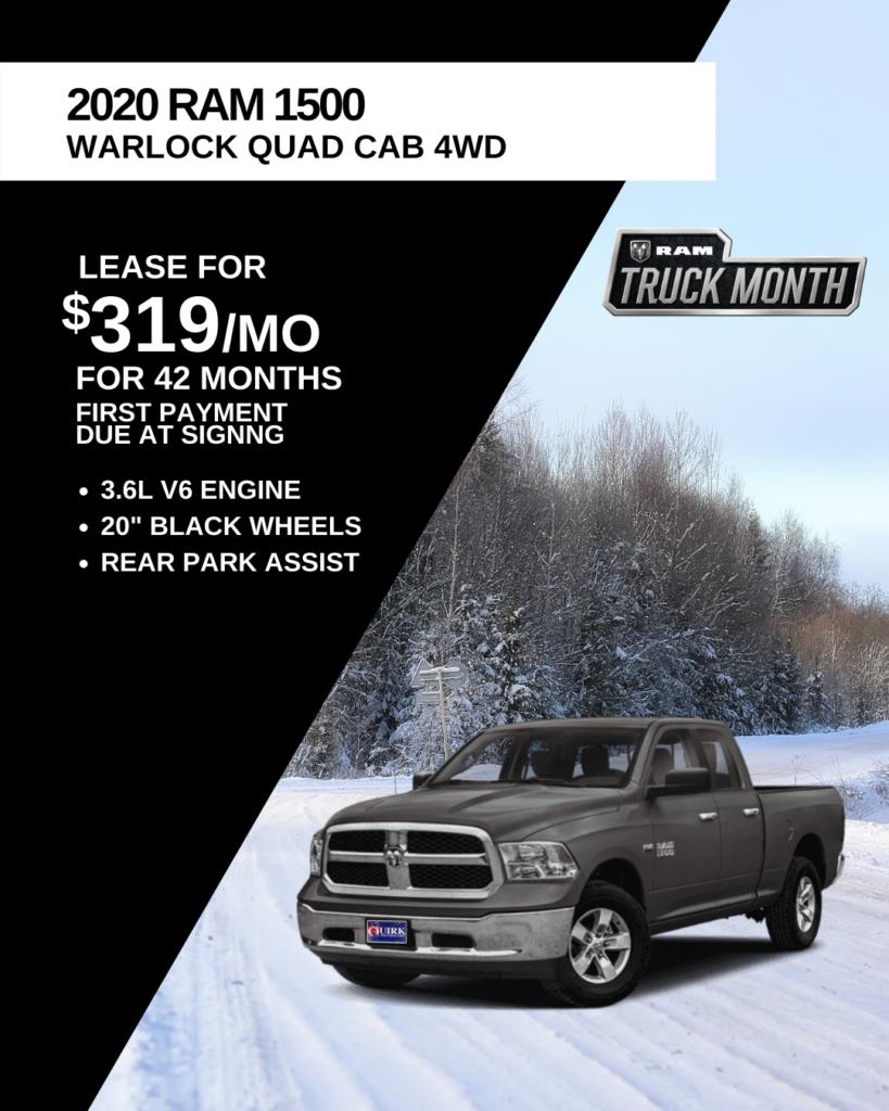 New 2020 Ram 1500 Classic Warlock 4WD