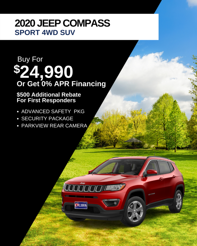 New 2020 Jeep Compass Sport North Edition 4WD