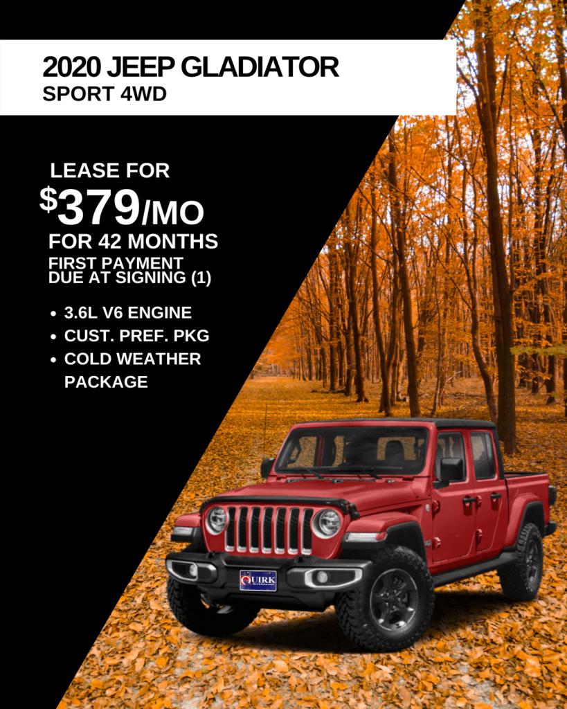 New 2020 Jeep Gladiator Sport S 4WD