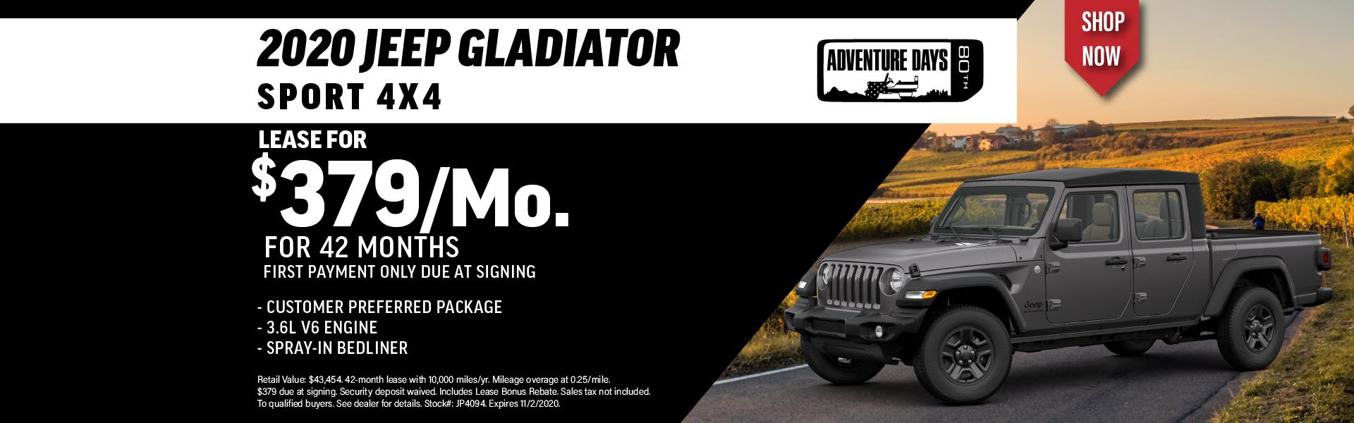 Quirk 2020 Jeep Gladiator- October 2020