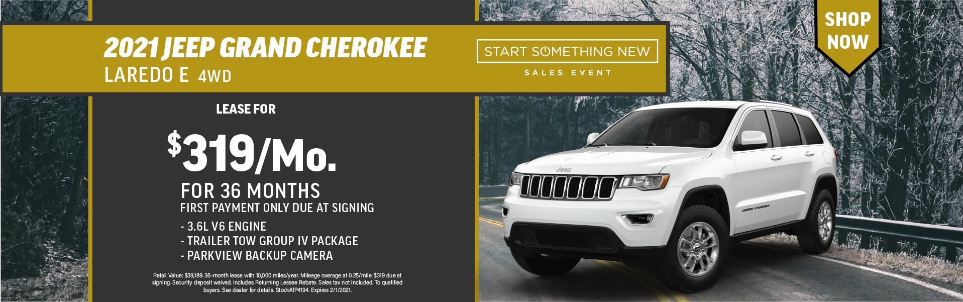 Quirk 2021 Jeep Grand Cherokee- January 2021