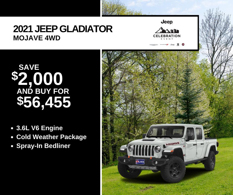 New 2021 Jeep Gladiator Mojave 4WD