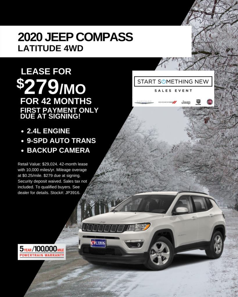New 2019 Jeep Compass Latitude 4WD