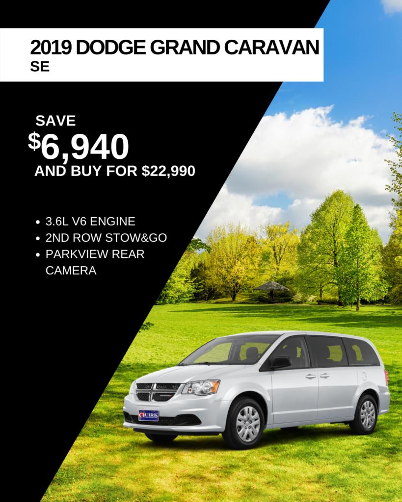 New 2019 Dodge Grand Caravan SE FWD Mini-van, Passenger