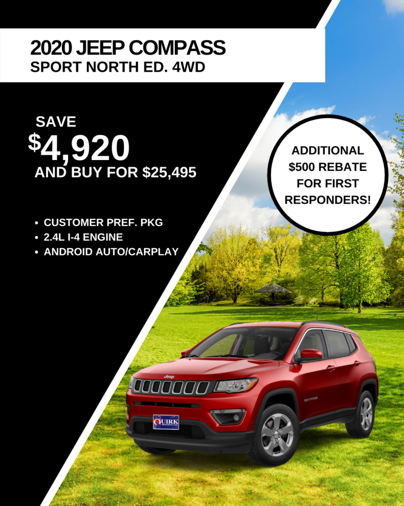 New 2020 Jeep Compass North Edition With Navigation & 4WD