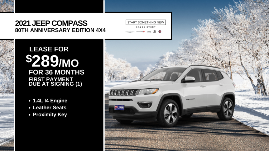 New 2021 Jeep Compass 80th Anniversary With Navigation & 4WD