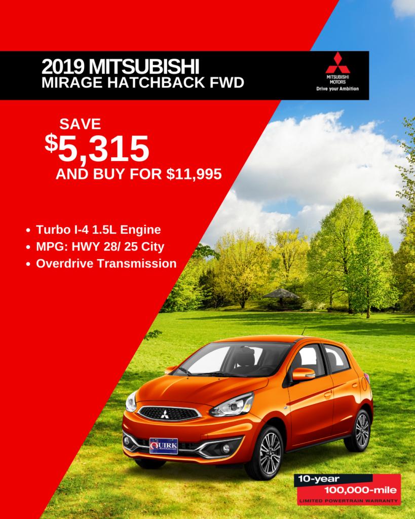 New 2019 Mitsubishi Mirage G4 ES FWD Hatchback