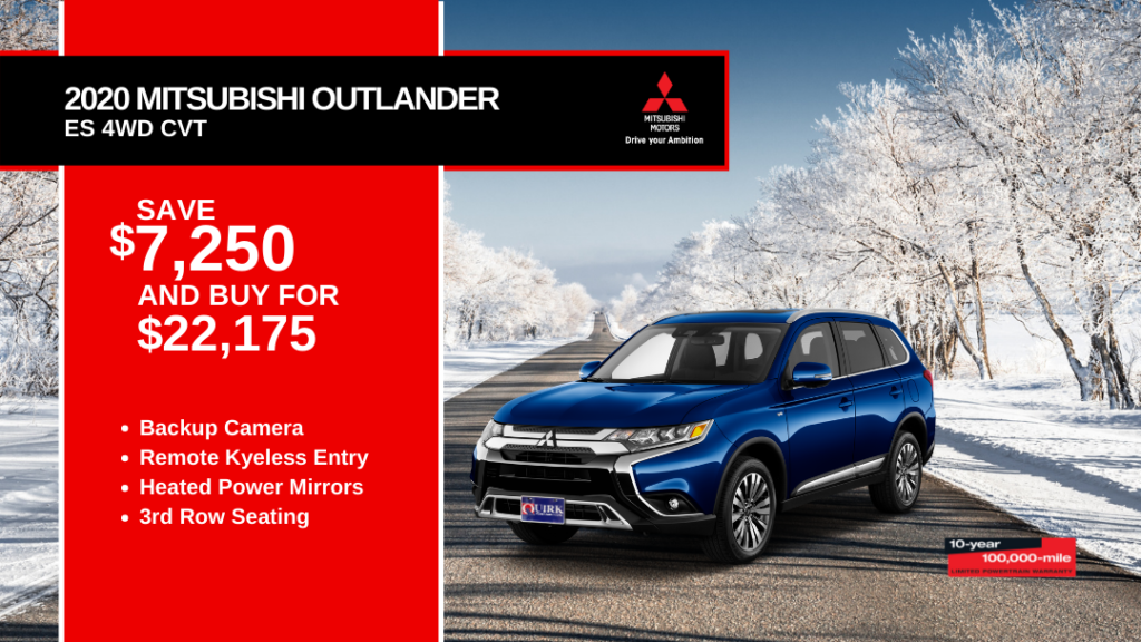 New 2020 Mitsubishi Outlander SE 4WD