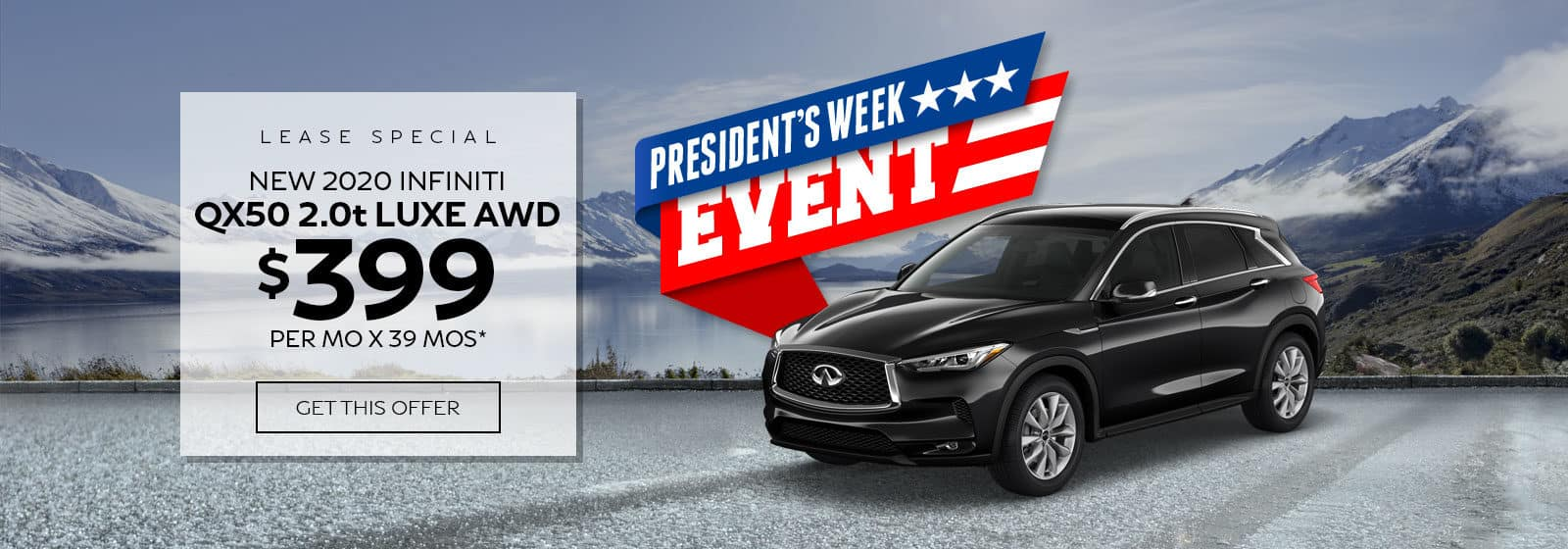 INFINITI QX50 lease special