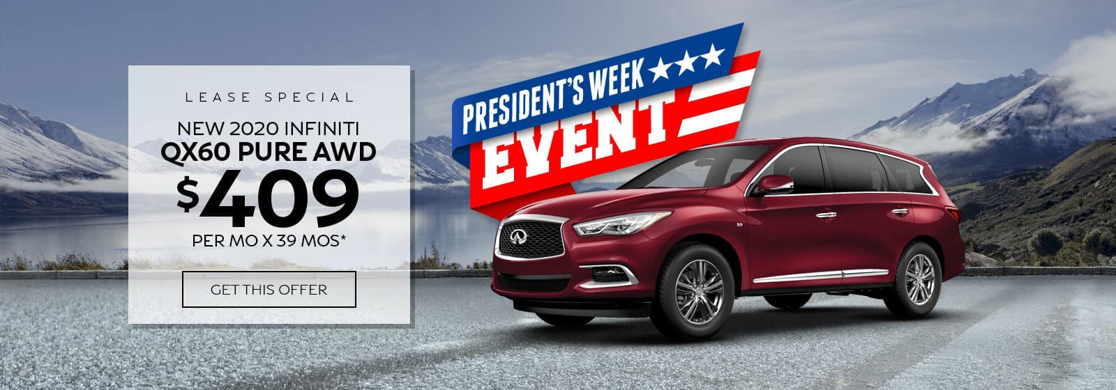 INFINITI QX60 lease special