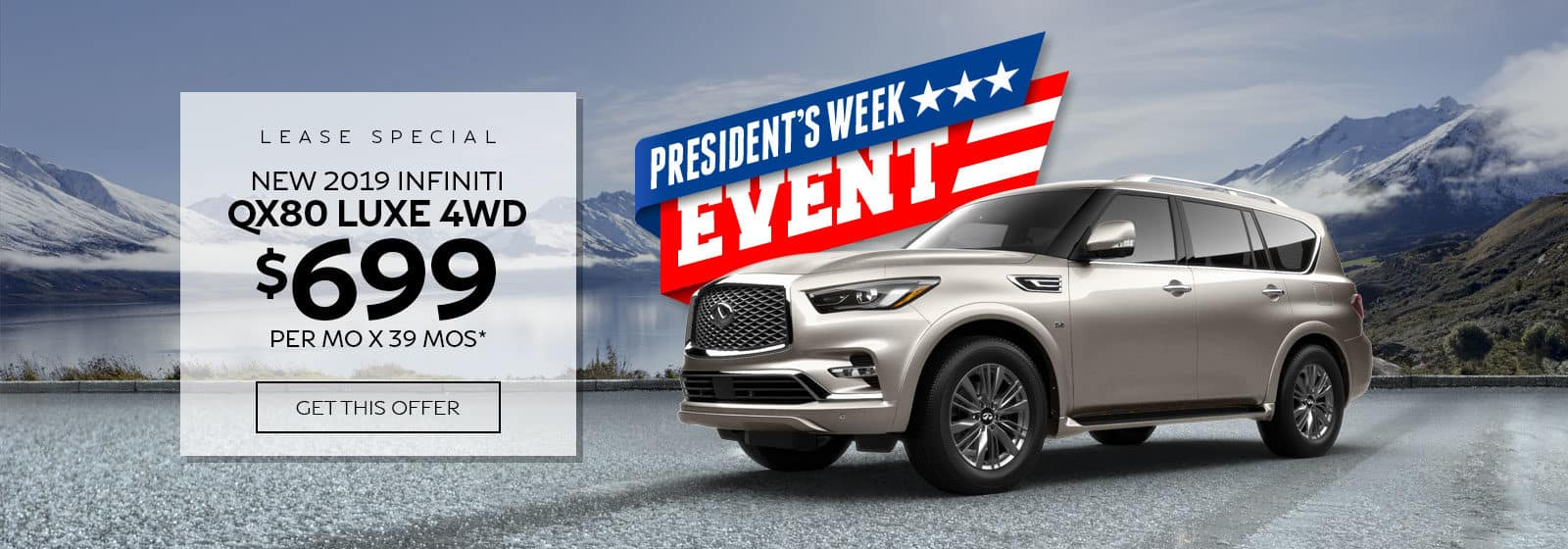 INFINITI QX80 lease special